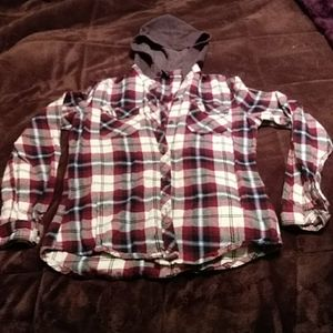Women's flannel with hood size S